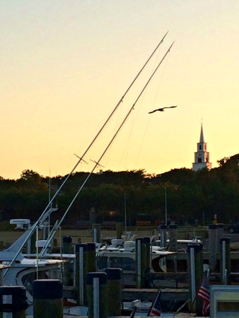 Congregational Church from the pier
