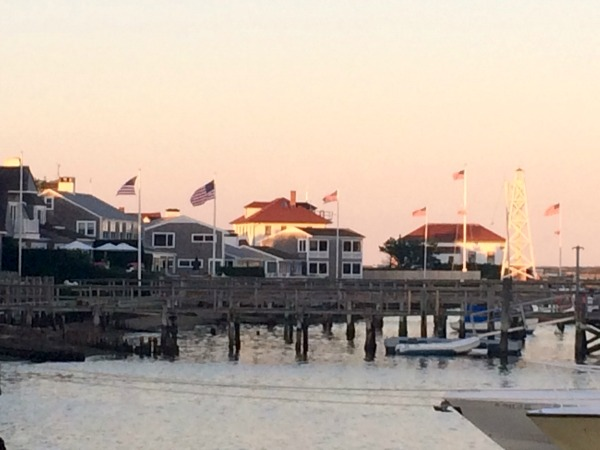 Flags flying at the pier