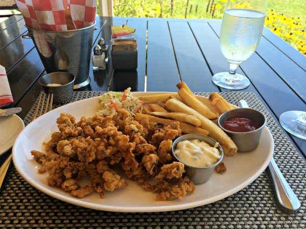 Fried clams at the hotel