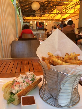 Lobster roll at the Dune