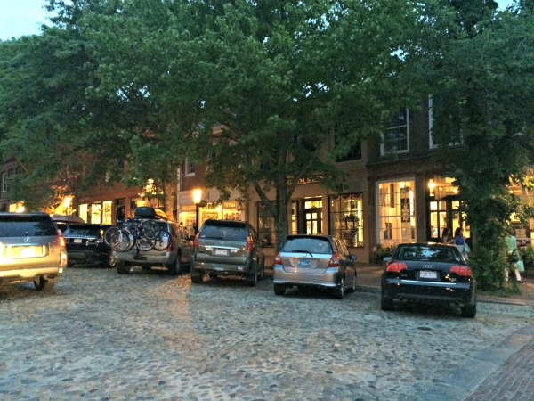 Main St. with its cobblestone street & gas lights