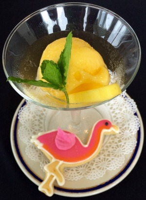 Mango Sorbet With Sugar Cookie