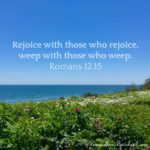 Rejoice with those who rejoice