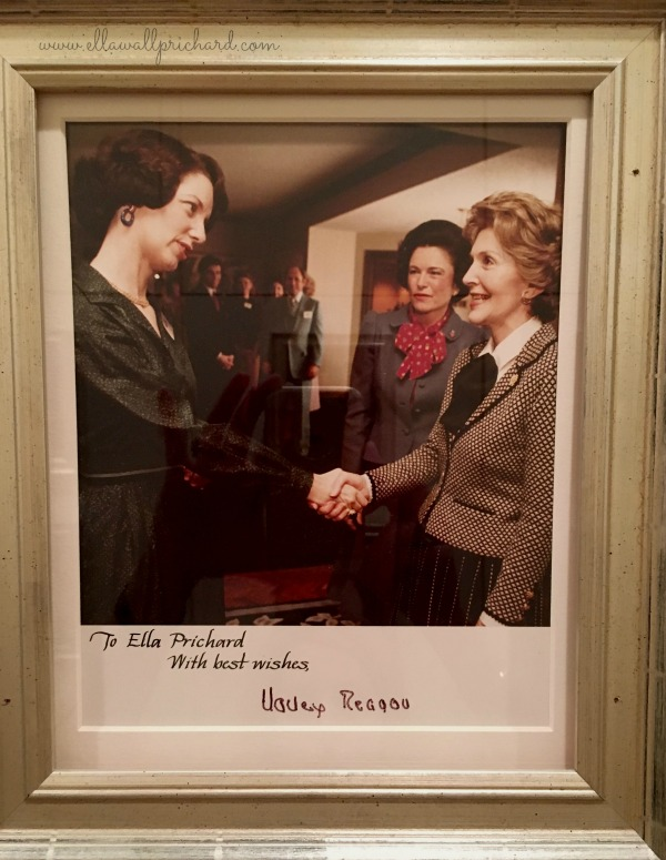 with Rita Clements and Nancy Reagan