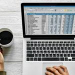 woman with spreadsheet